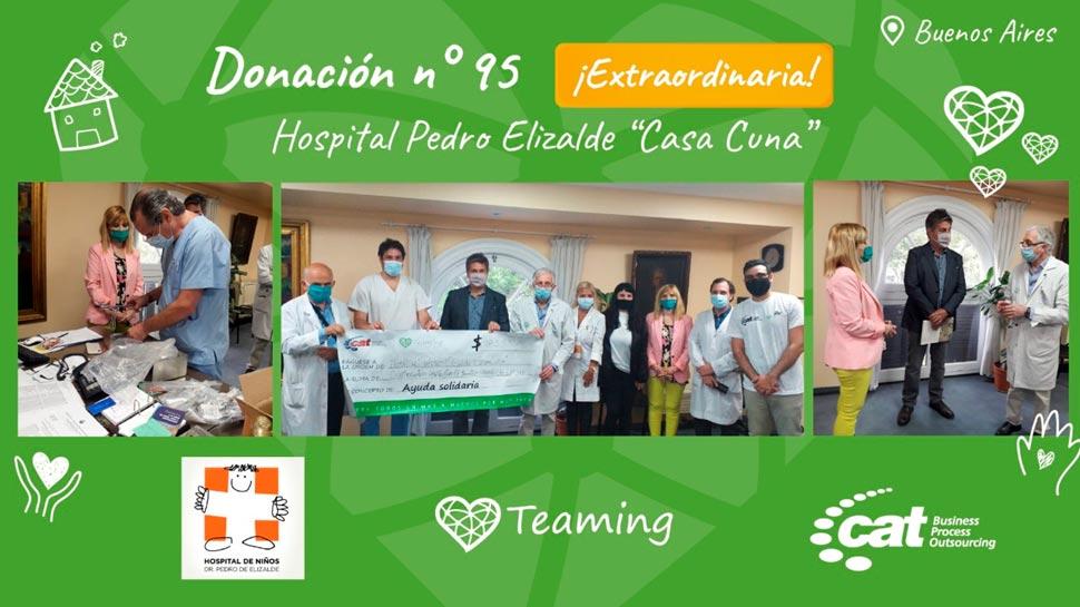 """CAT Technologies Argentina donó material quirúrgico al Hospital Pedro Elizalde """"Casa Cuna"""""""